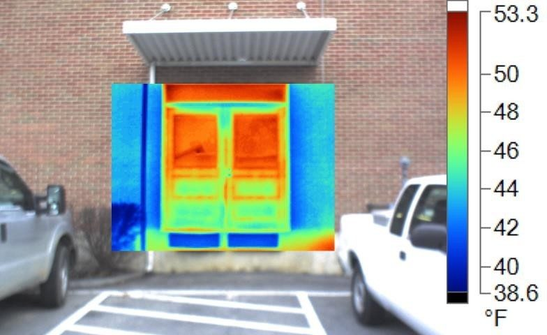 Thermal Image of double door, loading dock #1