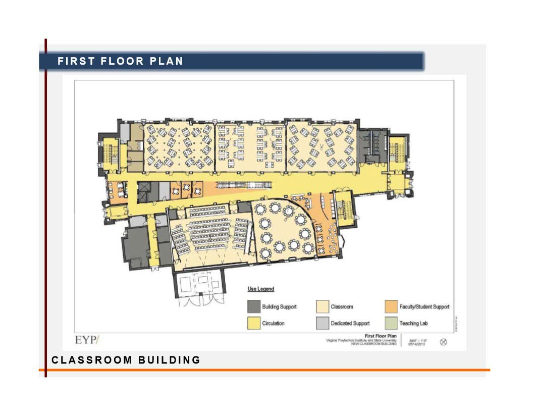 Classroom building facilities department virginia tech for Building project plan