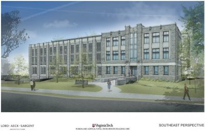 A rendering of the southeast perspective of new the HABB1 building, provided by Lord, Aeck & Sargent.