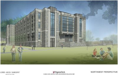 A rendering of the northwest perspective of the new HABB1 building, provided by Lord, Aeck & Sargent.