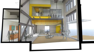 Proposed rendering for Center for Autonomous Mining and Robotics