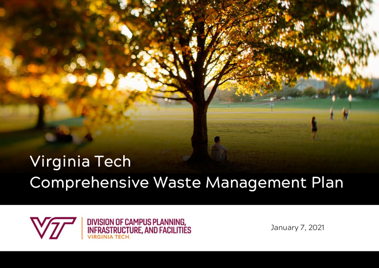 Virginia Tech comprehensive waste management plan. DCPIF January 7, 2021